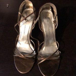 Chinese Laundry Bronze Strappy Sandal, Size 9